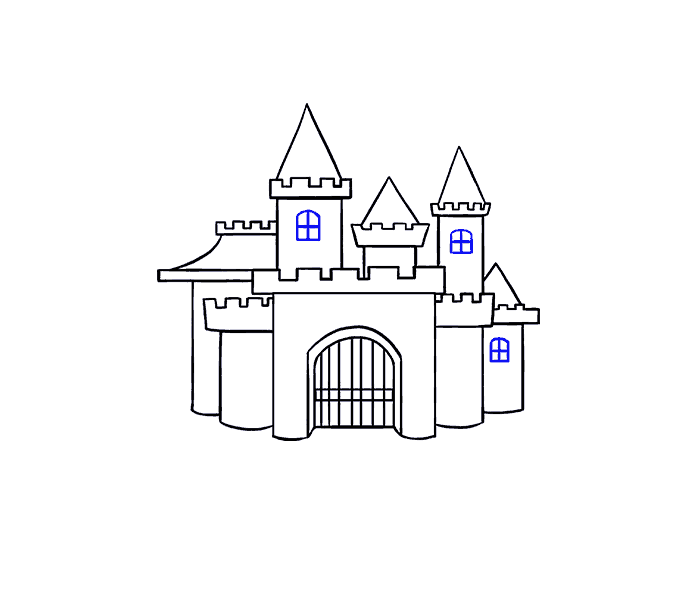 banner royalty free How to Draw a Cartoon Castle in a Few Easy Steps