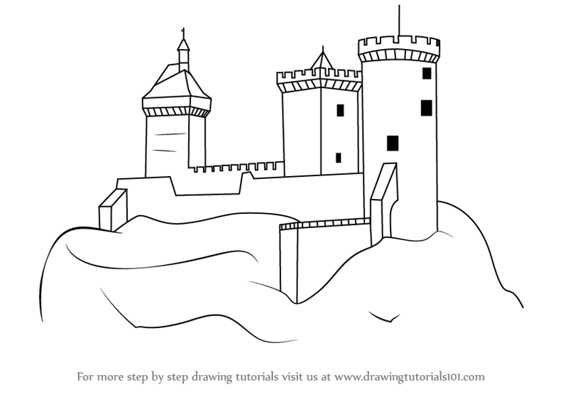 image Learn How to Draw a Medieval Castle