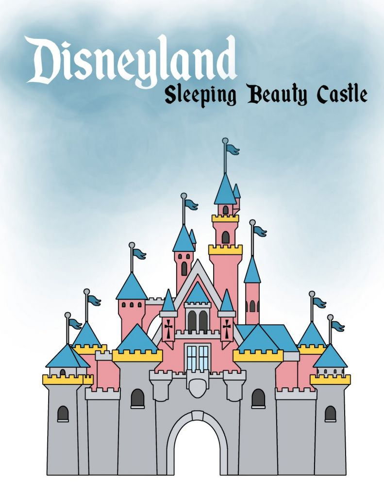 banner black and white library Disney Castle Drawing