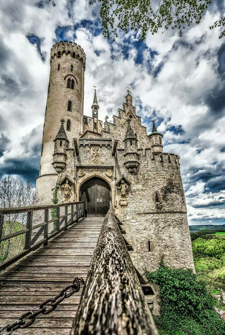 picture black and white library Lichtenstein Castle