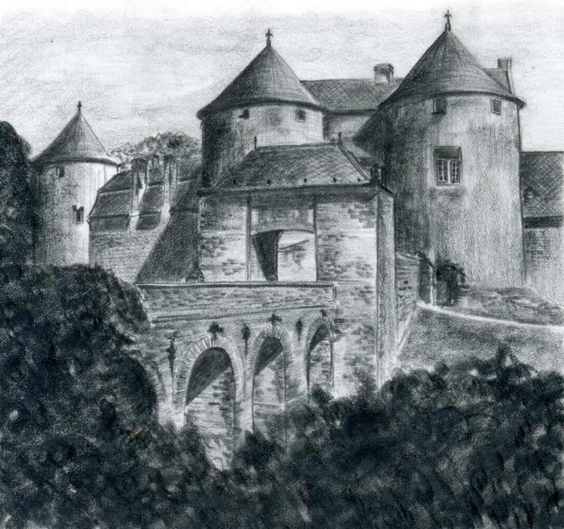 jpg black and white Castle Drawings For Inspiration And Fun
