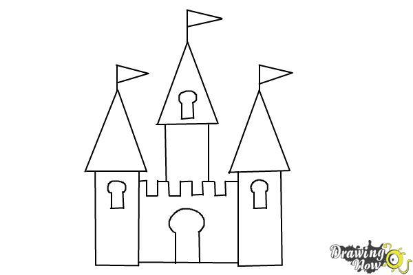 svg black and white download How to Draw a Simple Castle