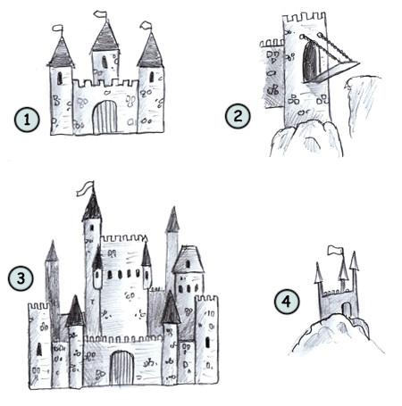 clip art transparent stock Drawing a cartoon castle