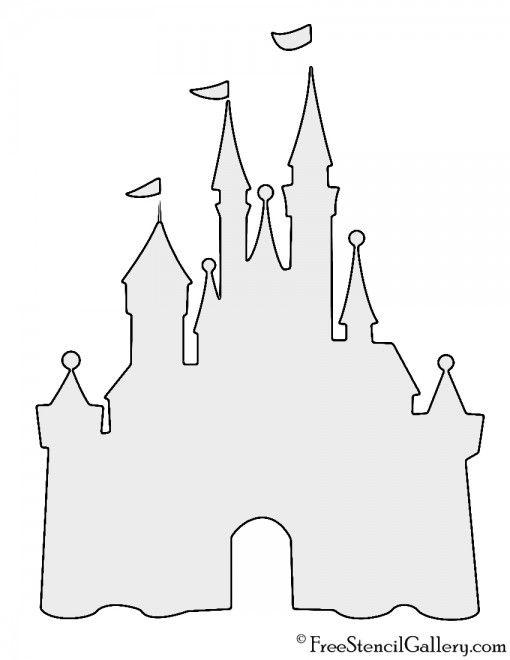 picture transparent Disney Castle Stencil