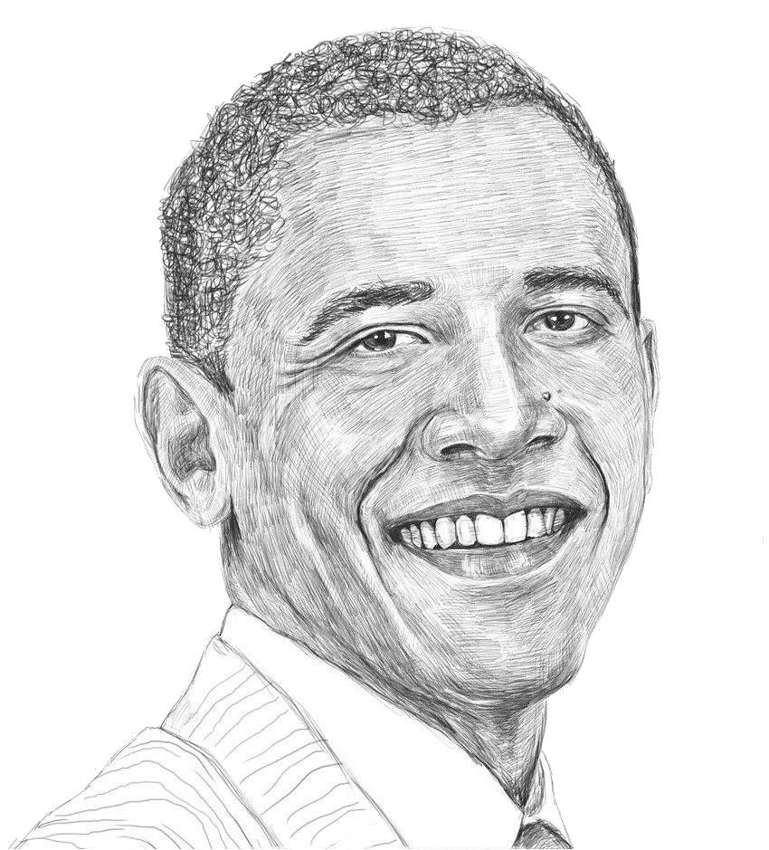banner freeuse Barack Obama United States Painting Drawing Sketch