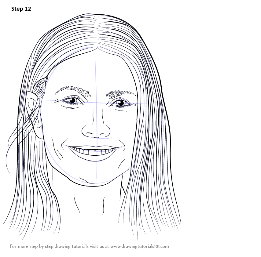 vector free Learn how to draw. Drawing portrait step by