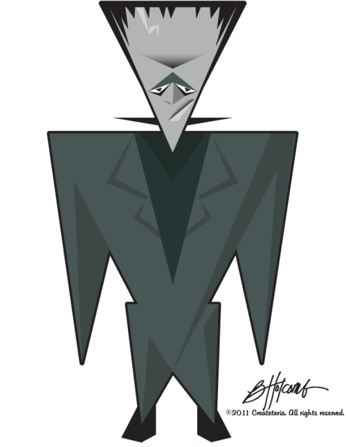 banner royalty free Triangle Herman Munster