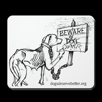 image royalty free Starving Dog Makes Sign Mousepad