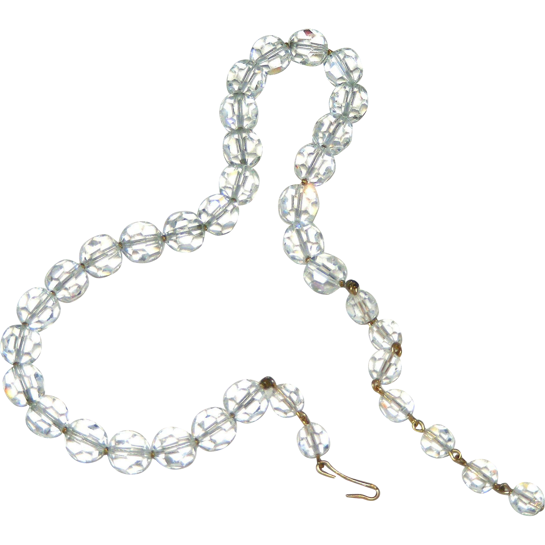 clipart free stock Exquisite Faceted Lead Crystal Vintage Necklace on Chain