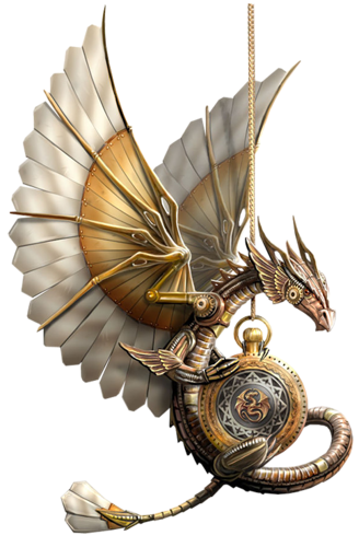 graphic free stock SteamPunk Dragon