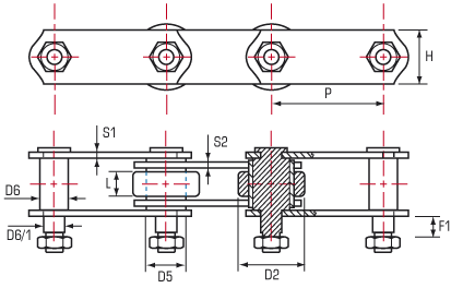 graphic free download Roller Chain Extended Pins