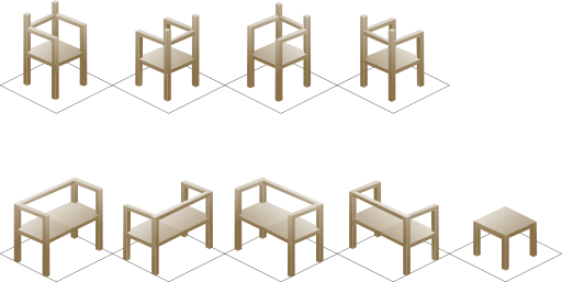 freeuse download Isometric Chair Clipart