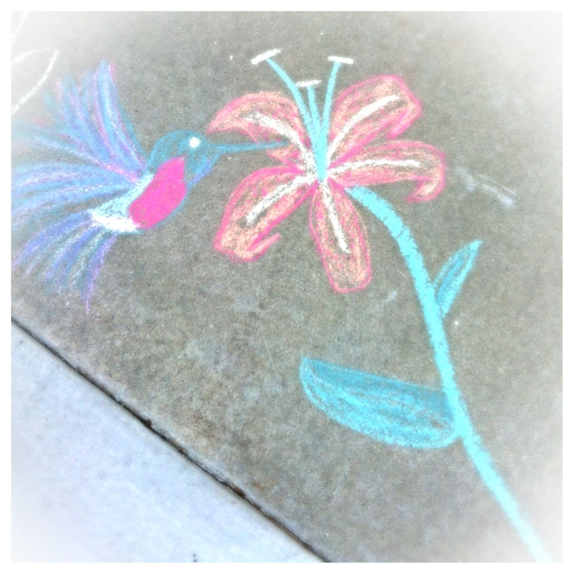 image black and white Simple Sidewalk chalk art By christin