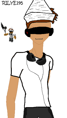 clipart black and white stock Drawing s character. Rilye roblox by skyeskyeroblox