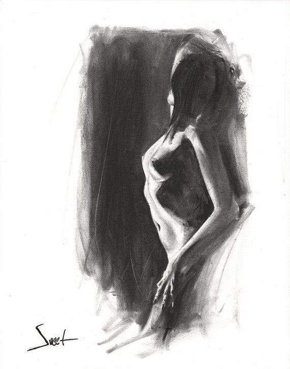 clip transparent library Figure nude art figurative. Drawing charcoal
