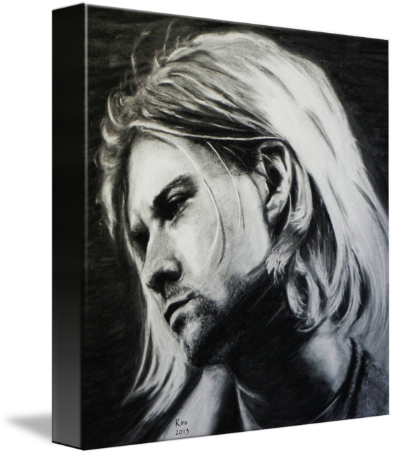 clipart royalty free stock Kurt coabin by kira. Drawing charcoal