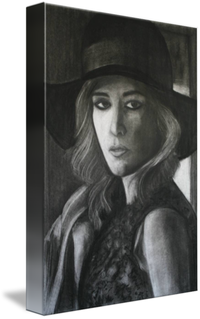 picture free download Drawing charcoal. Of a girl by