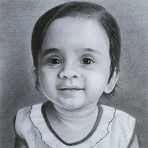 graphic royalty free download Drawing charcoal baby. Portraits photo to free
