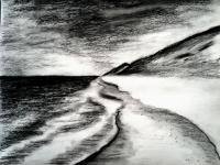 jpg library stock Drawings ideas for kids. Drawing charcoal beach