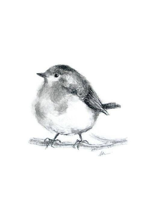 banner freeuse download Drawing charcoal bird. Original pencil hand drawn