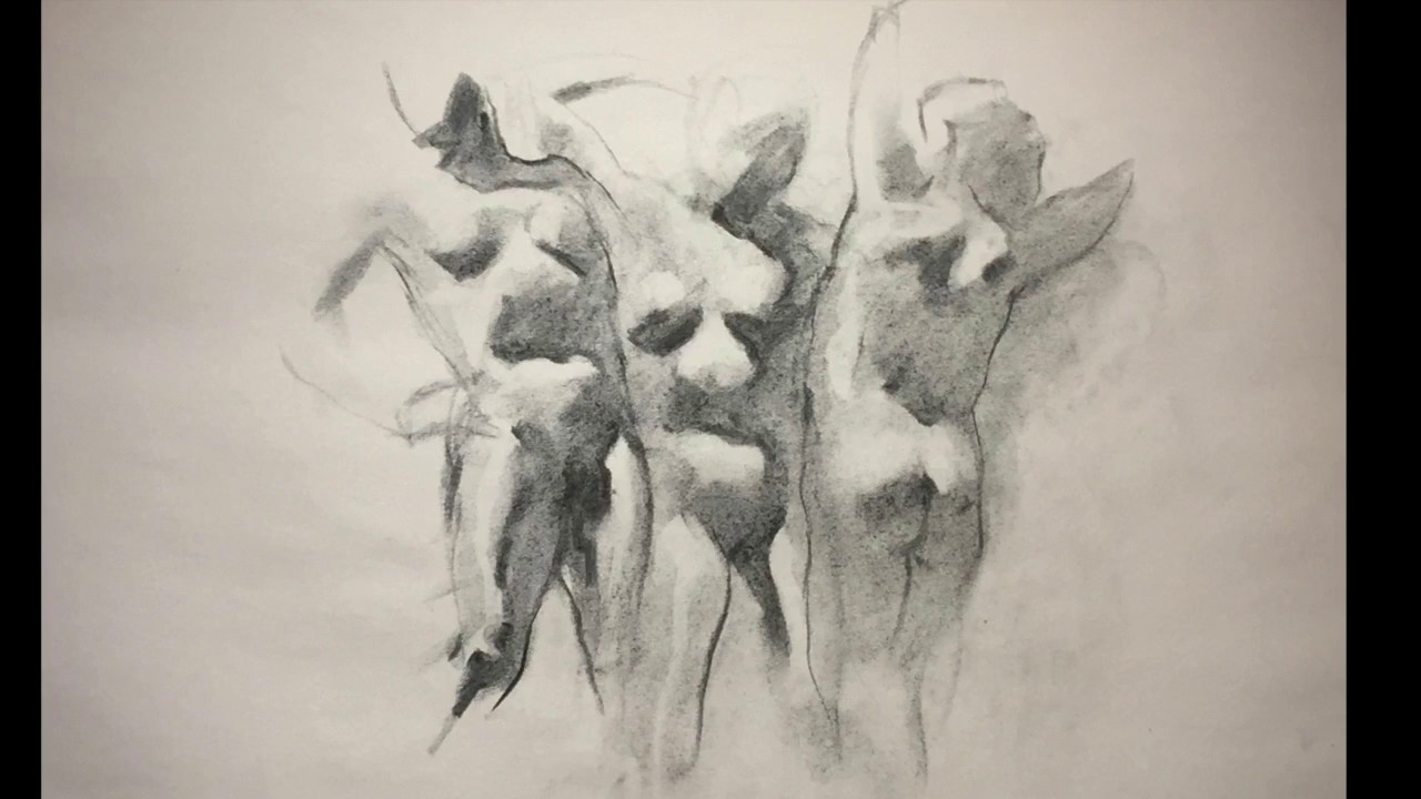 vector free Exercise view preview instructional. Drawing charcoal figure