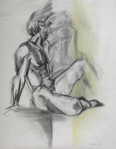 vector transparent stock Drawing charcoal figure. Apparition