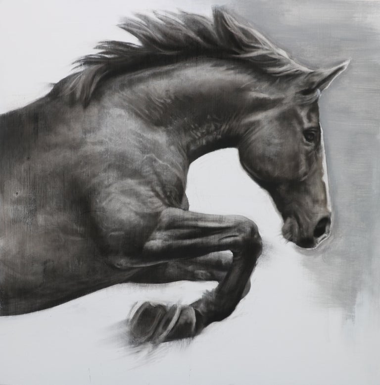 clipart black and white The mesmerist spotted gesso. Drawing charcoal horse