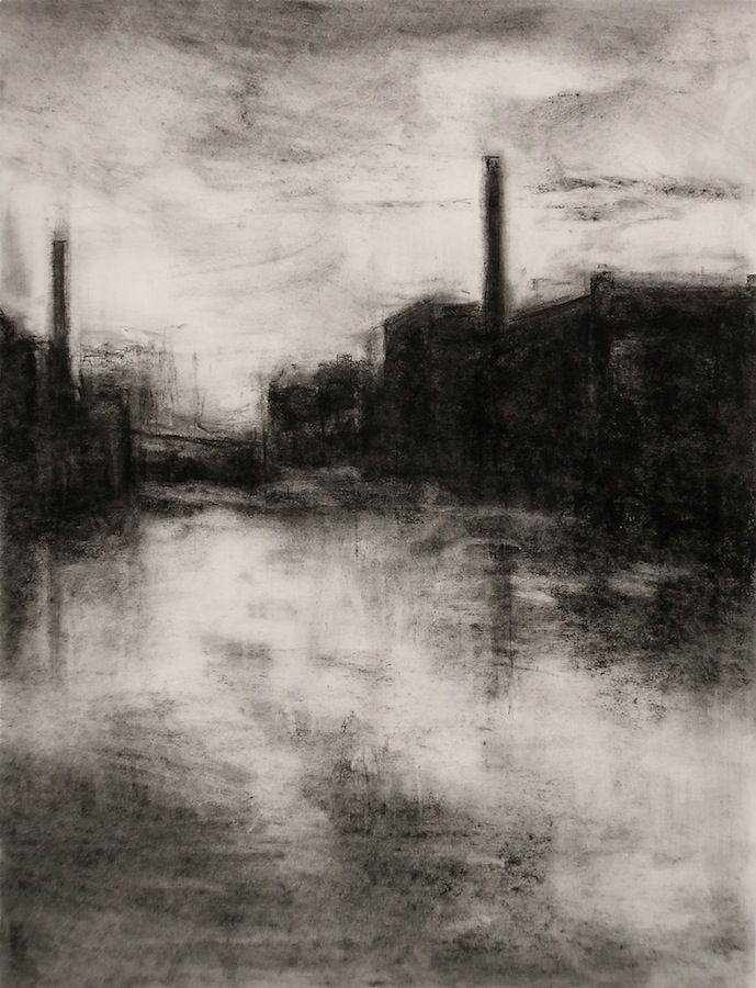 picture freeuse Pin on art . Drawing charcoal landscape