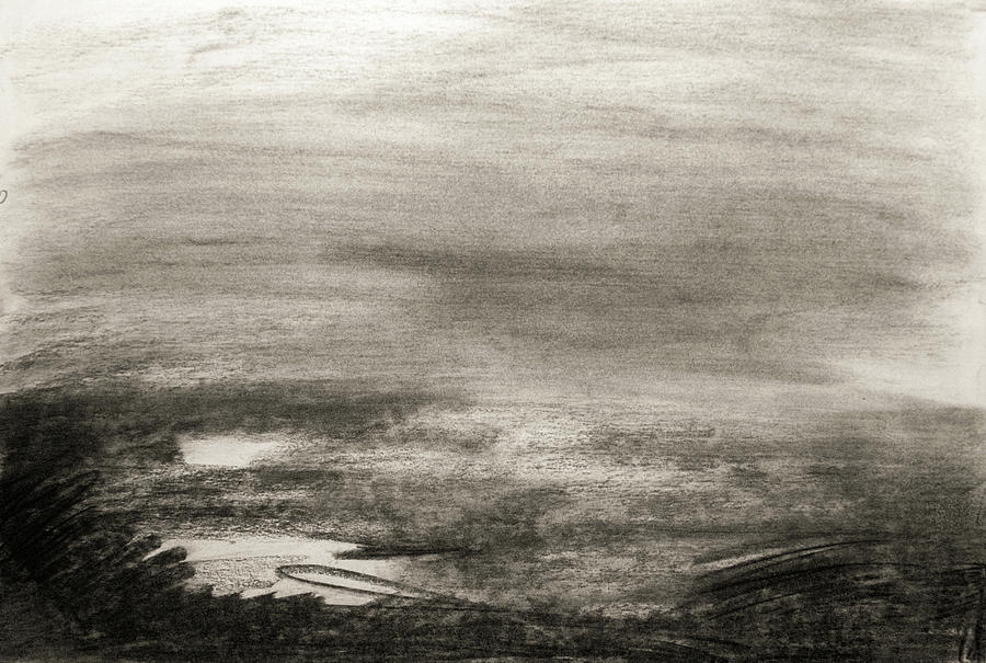 clip library library Drawing charcoal landscape.