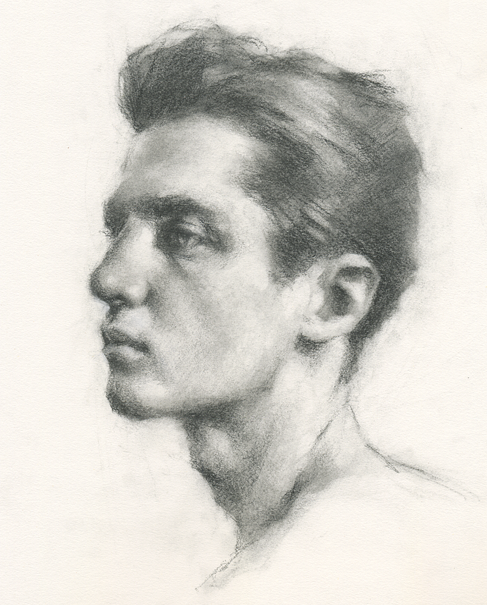 jpg black and white library Drawing charcoal male. Jeff haines in pencil