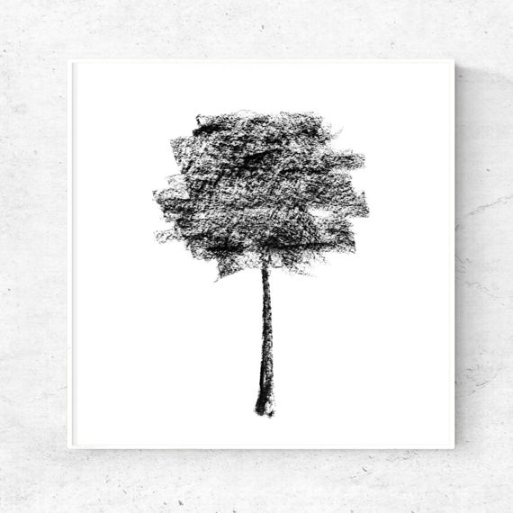 jpg freeuse Drawing charcoal minimalist. Black tree art print