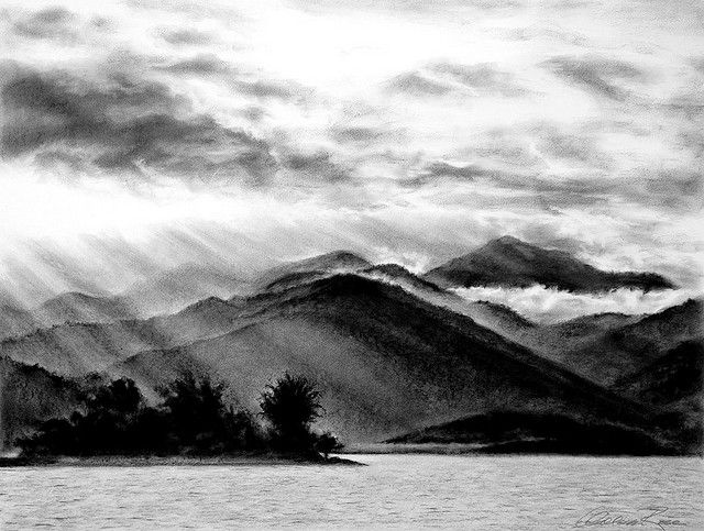 royalty free download Out at bay rio. Drawing charcoal mountain