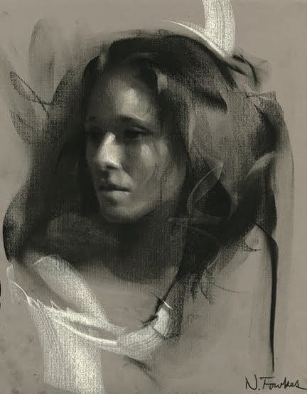 download In full demo . Drawing charcoal portrait