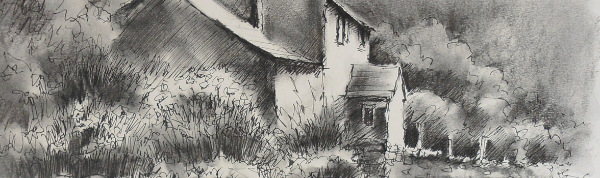 stock How to draw a. Drawing charcoal scenery