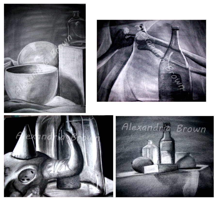 clip art black and white library Drawing charcoal still life. By togekisser on deviantart