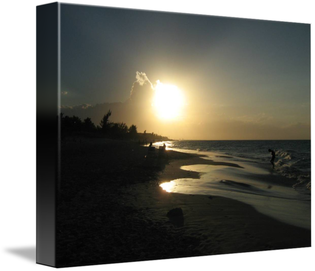 clip royalty free Cuban by amy haynes. Drawing charcoal sunset