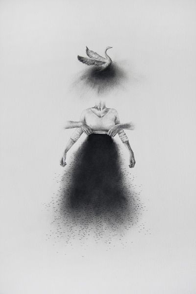 vector Drawing charcoal surreal. Mysteriously drawings interest