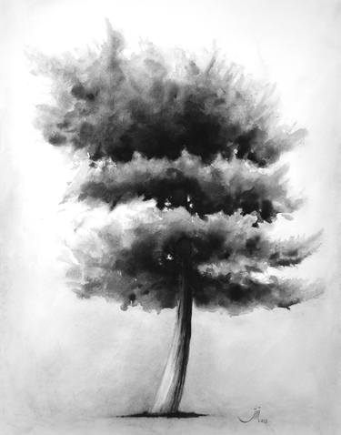 clip art royalty free download Drawing charcoal tree. Original drawings for sale