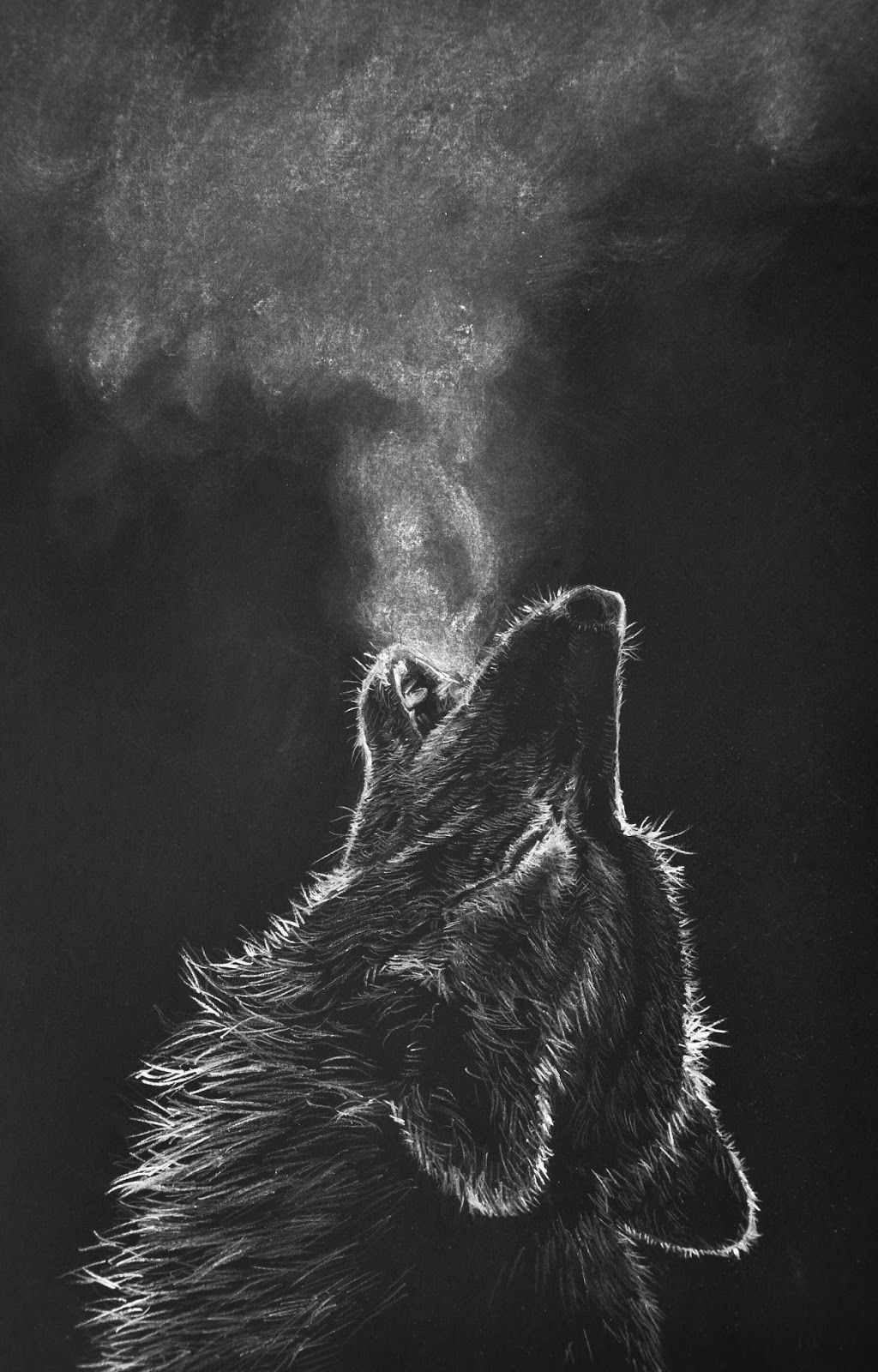 image freeuse download Drawing charcoal wolf. White black paper google
