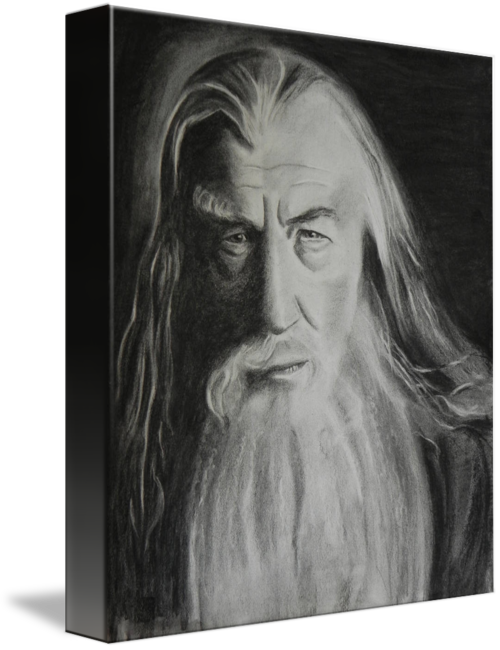 clipart freeuse download Drawing charcoal. Gandalf original by kira
