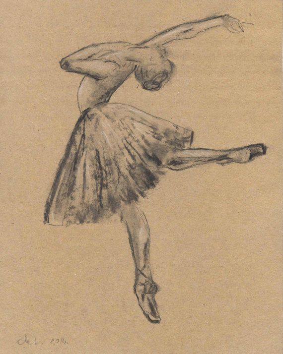 royalty free stock Ballerina charcoal sketch
