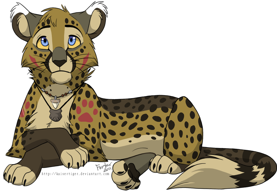 vector royalty free stock Collection of free Cheetah drawing fire