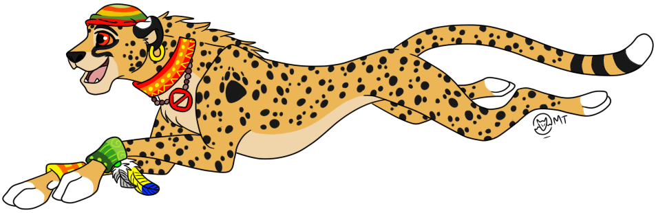 clipart Collection of free Cheetah drawing rain