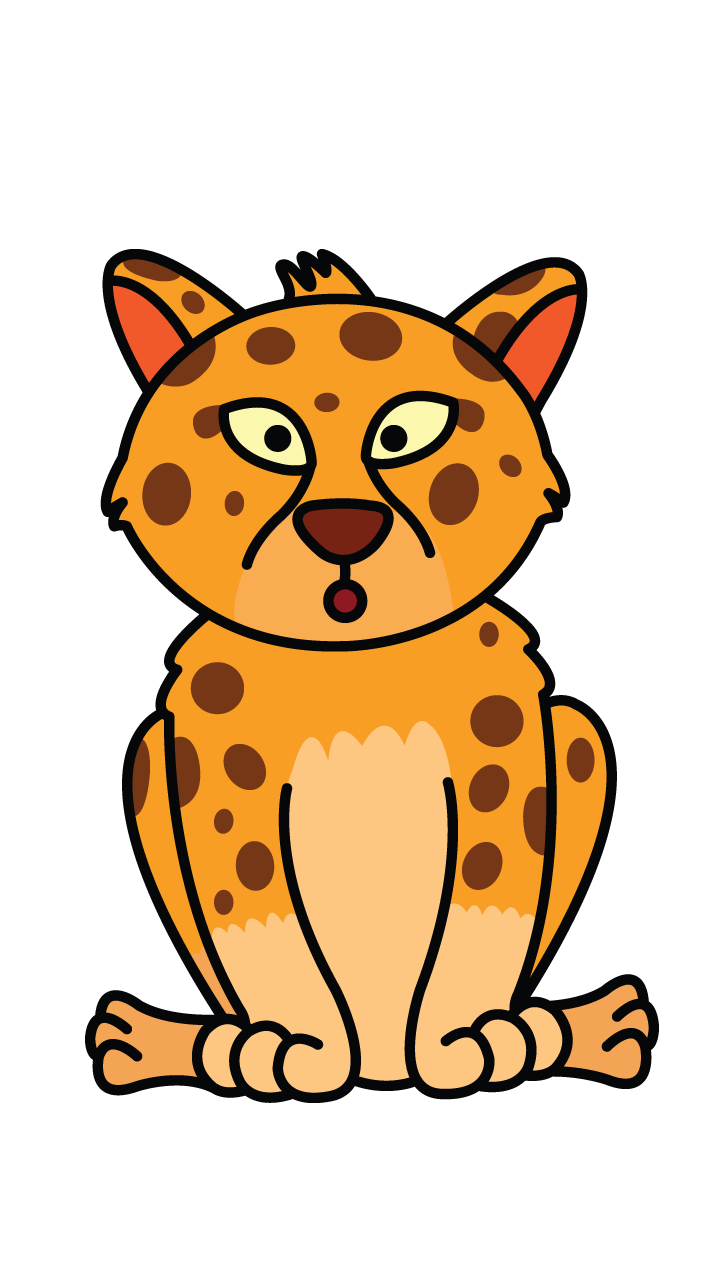 clip art royalty free library How to Draw Baby Cheetah