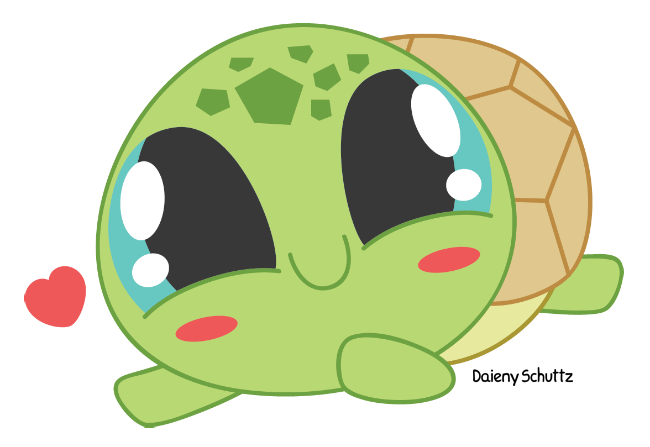svg library library Chibi Turtle by Daieny on DeviantArt