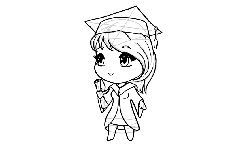 clipart royalty free library How to draw a. Drawing chibis cartoon
