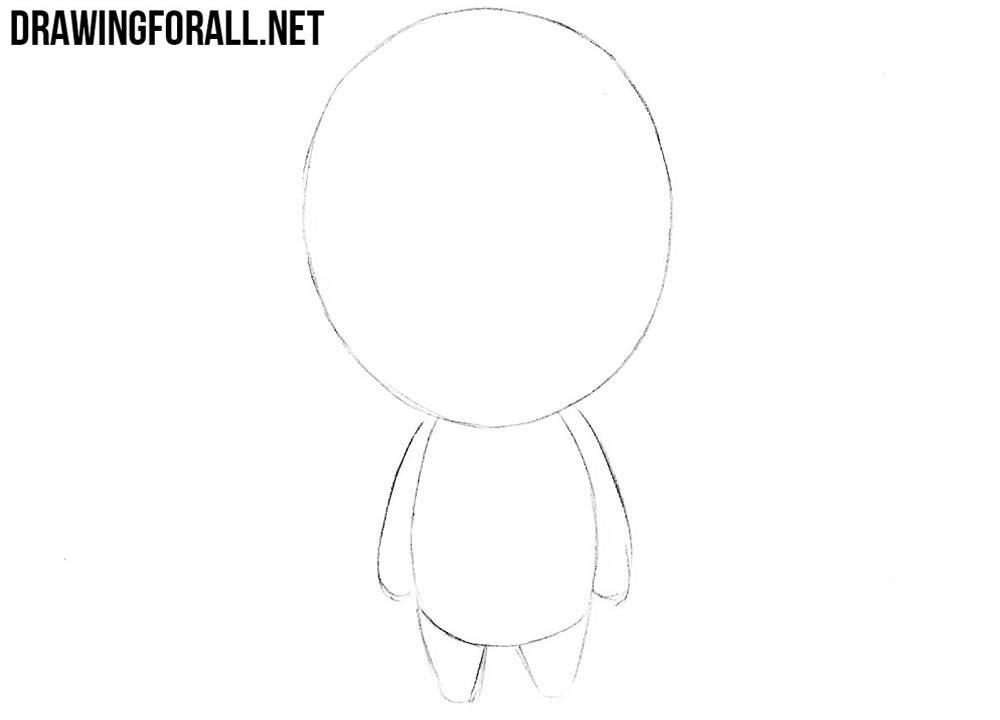 transparent stock Drawing chibis cartoon. How to draw chibi