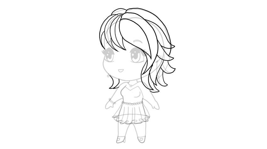clipart royalty free library Drawing chibis cartoon. How to draw a