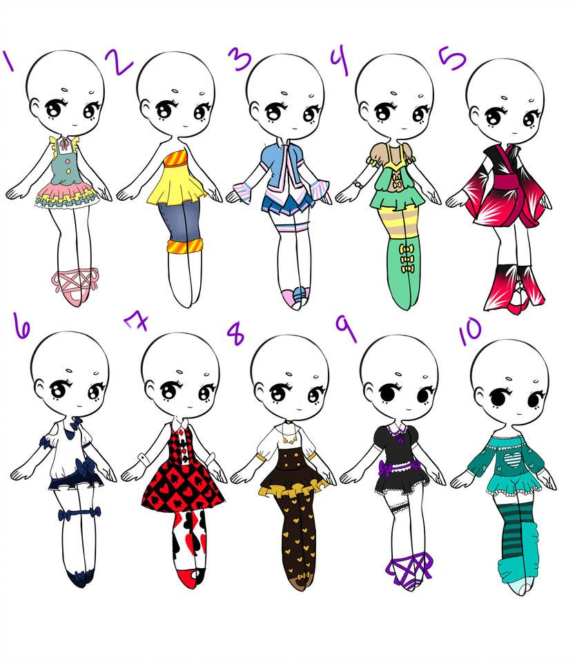 royalty free download Outfit adopts closed by. Drawing outfits chibi