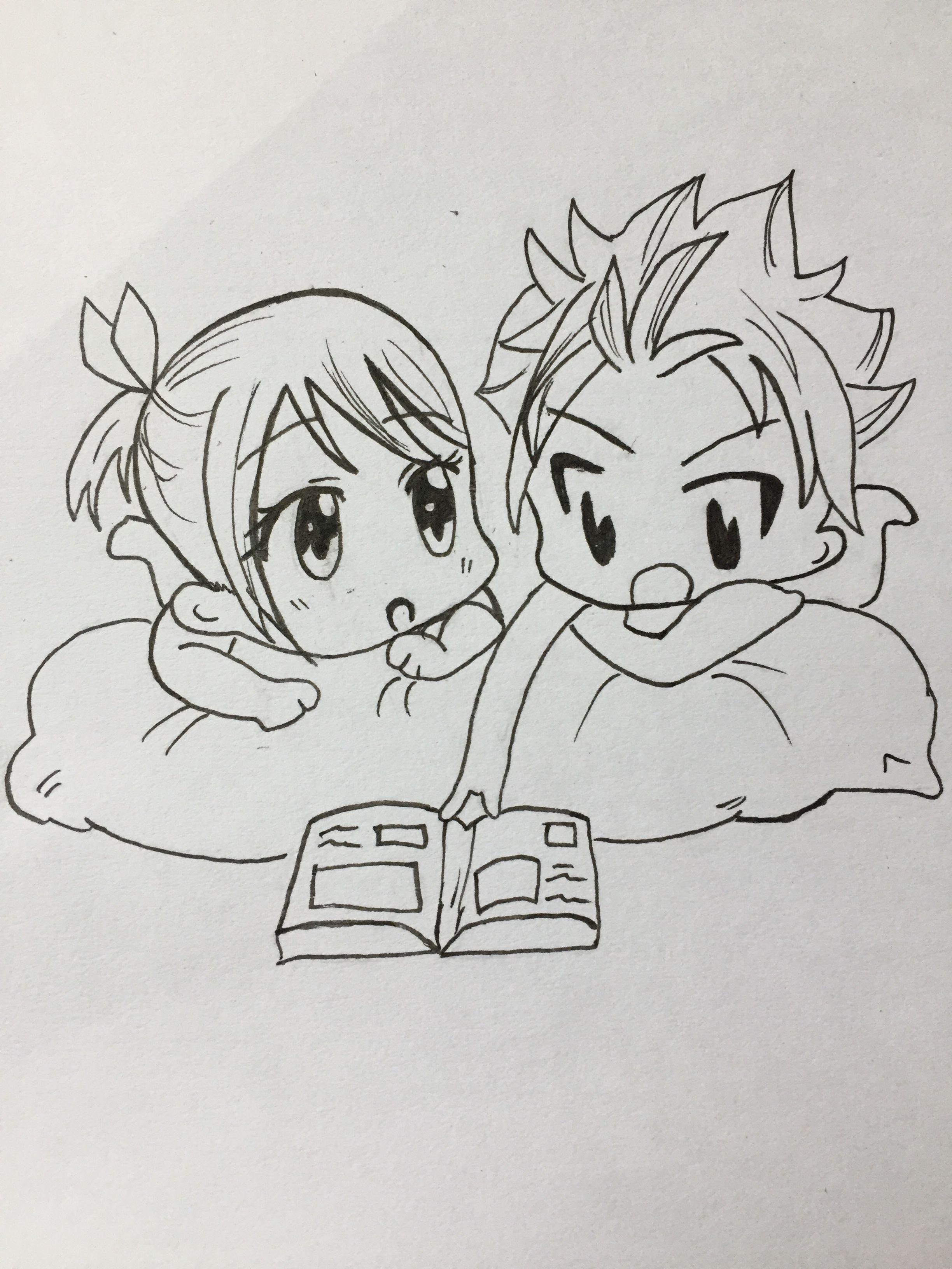 transparent download Tail drawing chibi. Nalu fairytail mangadrawing manga